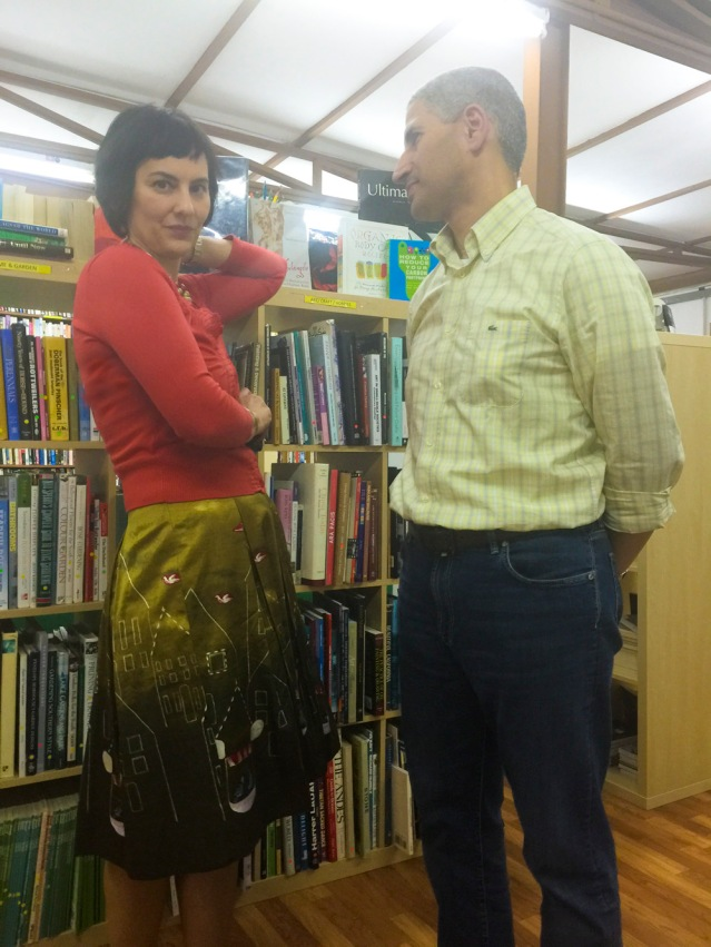 a tryst among the stacks between husband and wife