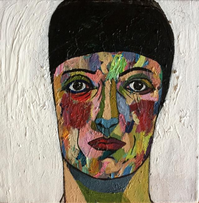 square portrait I, 2015, acrylic on canvas, 30 x 30cm