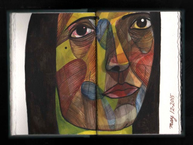 watercolor sketchbook } rugface