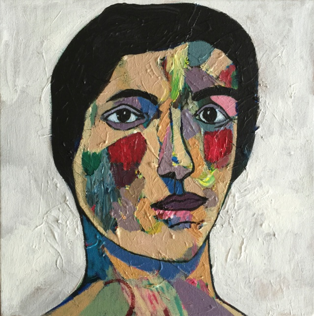 square portrait III, 2015, acylic on canvas, 30 x 30cm