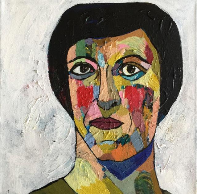 square portrait II, 2015, acrylic on canvas, 30 x 30cm