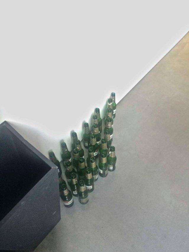 huddled beer bottles