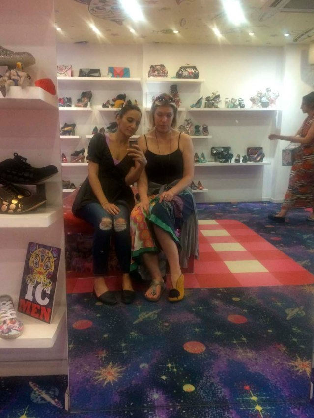 later on i had lunch with anna at polpo on beak street. then i took her to my favorite shoe store ever