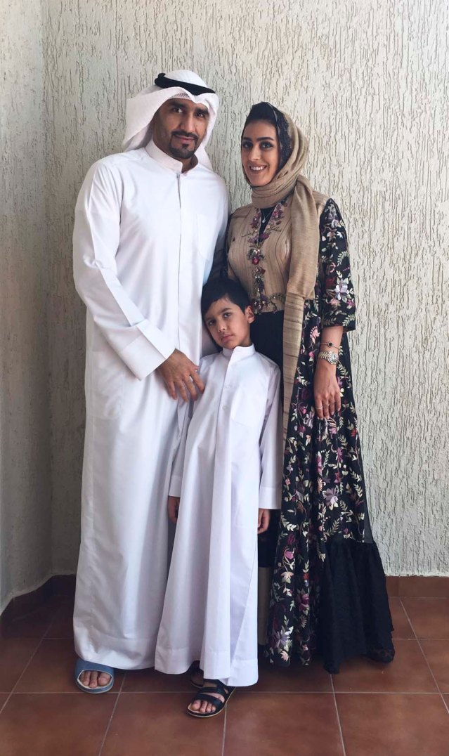 portrait of a young family on eid II } ahmed, razoogy, sara