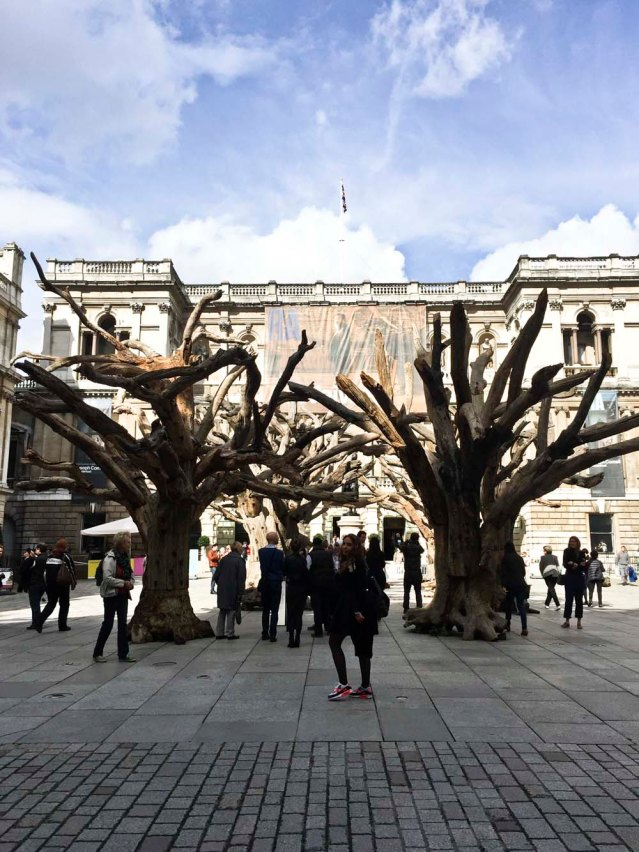 my sister, new friend alice and i visit the ai weiwei exhibition at the royal academy
