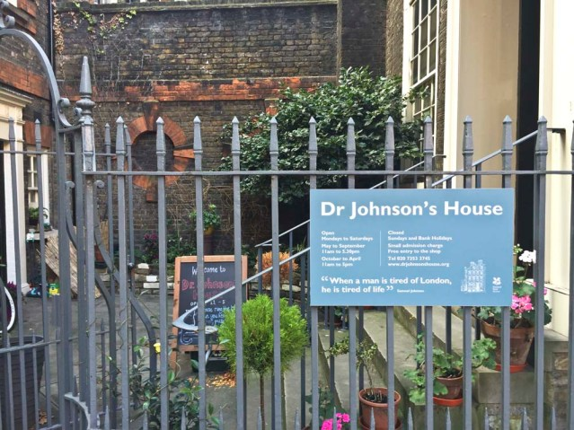 samuel johnson's home, because i'm a great fan of the dictionary, and words in general. plus it's just next door