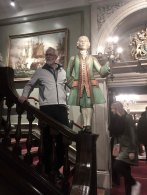 On Saturday Peter and I spend the afternoon frolicking around Central London. Peter poses with his new friend at Fortnum & Mason.