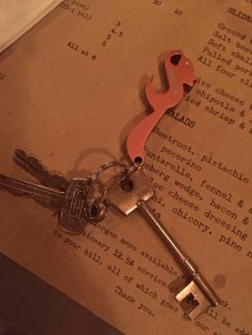 Later on it's drinks and appetizers at Spuntino's with Anna. I miss these keys!