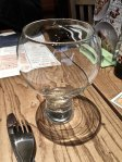 Later on at lunch I fall in love with this glass. It's a wine glass but I insist on drinking water from it.