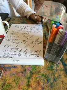 Lubna's intricate and impressively controlled penmanship. Hats off, L.