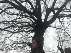 Jana and a tree.