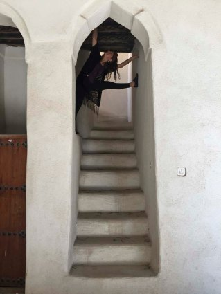 Thuraya says not to go upstairs.