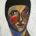 Square Portrait #6, 2016, acrylic on canvas, 30 x 30 cm