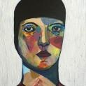 Square Portrait #5, 2016, acrylic on canvas, 30 x 30 cm