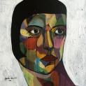 Square Portrait #4, 2016, acrylic on canvas, 30 x 30 cm