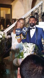 Muay Thai master Medi and his new bride.