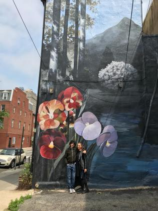 One of Philly's many beautiful murals surrounds me and my Khaled.