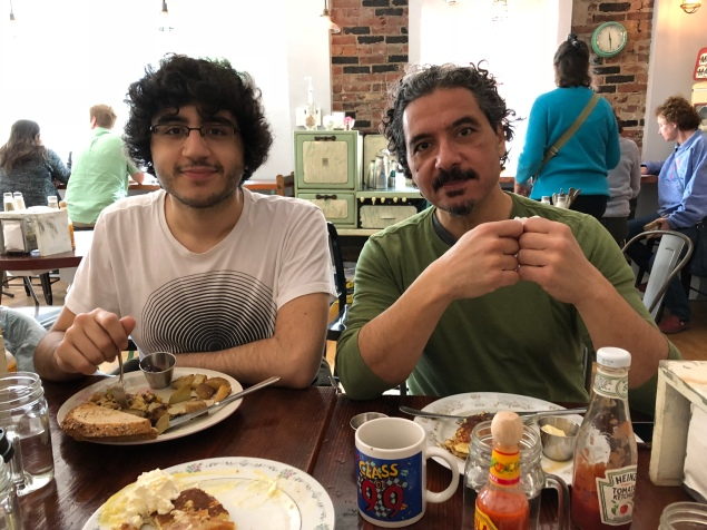 Khaled and his baba at Little Spoons restaurant.