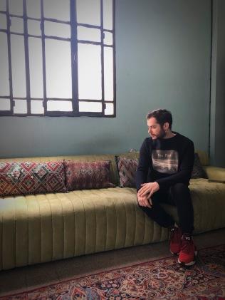 March 8 I visit Tarek Moukaddem at his loft/studio.